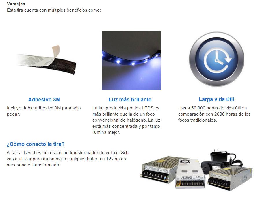 Tiras de led 1 tira flexible 603 30cm blanco luz - Tiras de led precios ...